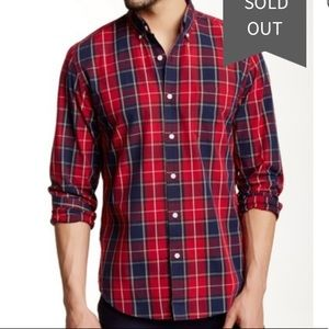 J.Crew Plaid Washed Regular Fit button up XXL